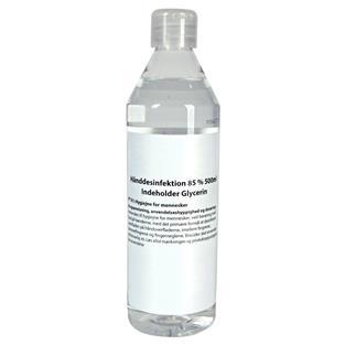 Hånddesinfektion 85% 500 ml. - håndsprit