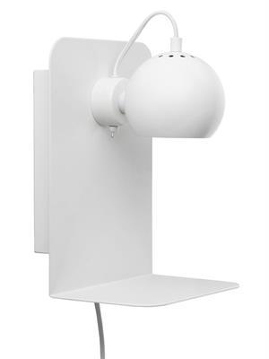 Image of   Frandsen Ball væglampe med USB (Mat hvid)
