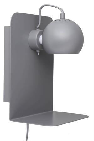 Image of   Frandsen Ball væglampe med USB (Mat lys grå)