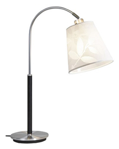 Belid Saga Alu/Sort Bordlampe