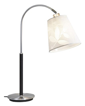 Image of Belid Saga Alu/Sort Bordlampe