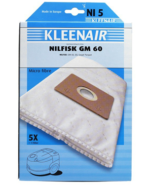 Image of   Kleenair NI5 Nilfisk GM60 støvsugerposer