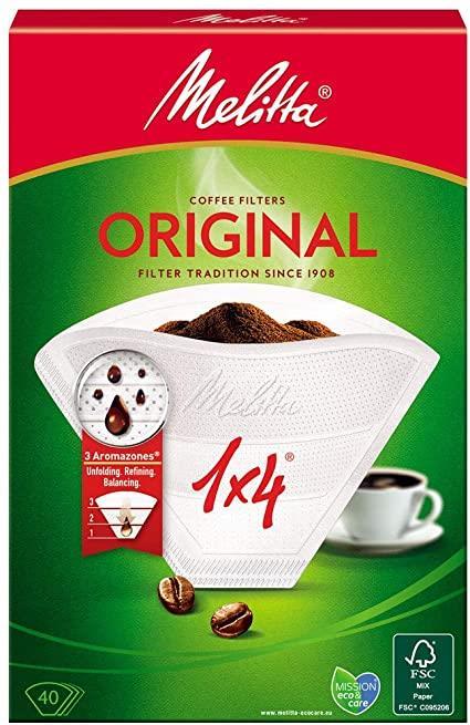 Melitta Original Kaffefilter 1x4 hvid